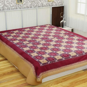 Sambalpuri Cotton Double Bedsheet Red