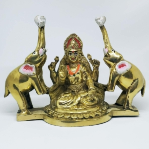 Brass Gaja Laxmi Idol for Home Puja Odisha Shop