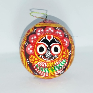 Handmade Coconut Shell Crafts Painting from Raghurajpur