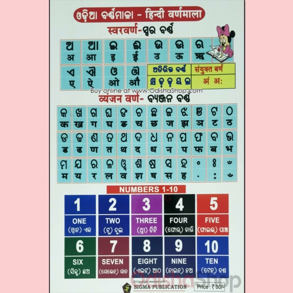 Odia Kids My First Book Of English Alphabets Book