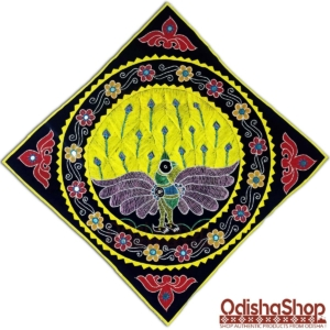 Handcrafted Pipili Chandua Peacock Design Wall Hanging Applique Work For Home Decor