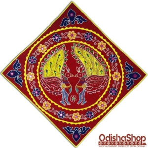Odisha Handcrafted Pipili Chandua Double Peacock Design Wall Hanging Applique Work
