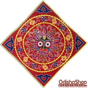 Odisha Handcrafted Pipili Chandua With Jagannath Idol Design