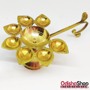 Brass 7 Diya Stand For Arati