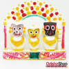Chaturdha Murti Lord Jagannath Balbhadra Subhadra Sudrshan Idol On Mayurashan For Puja Gifting Home Decor Vehicle Dash From OdishaShop
