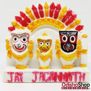 Marble Showpiece of Lord Jagannath Balaram Subhadra Idol