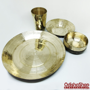 Odisha Shop Kansa(Bronze) Dinner Set From Odisha