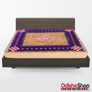 Sambalpuri Bandha Cotton Double Bedsheet From OdishaShop