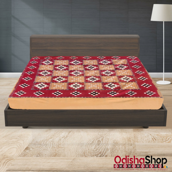 Sambalpuri Cotton Double Bedsheet From OdishaShop