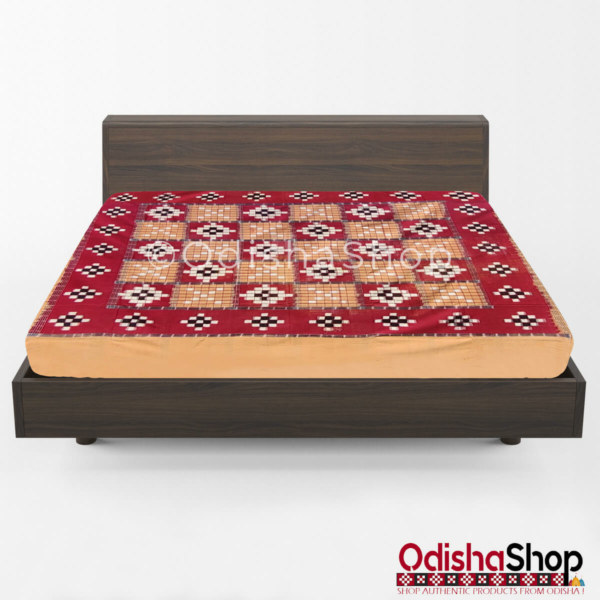 Sambalpuri Cotton Double Bedsheet - Pasapalli Design From OdishaShop
