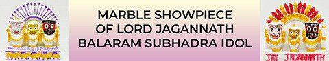 Marble Showpiece of Lord Jagannath Balaram Subhadra Idol_s