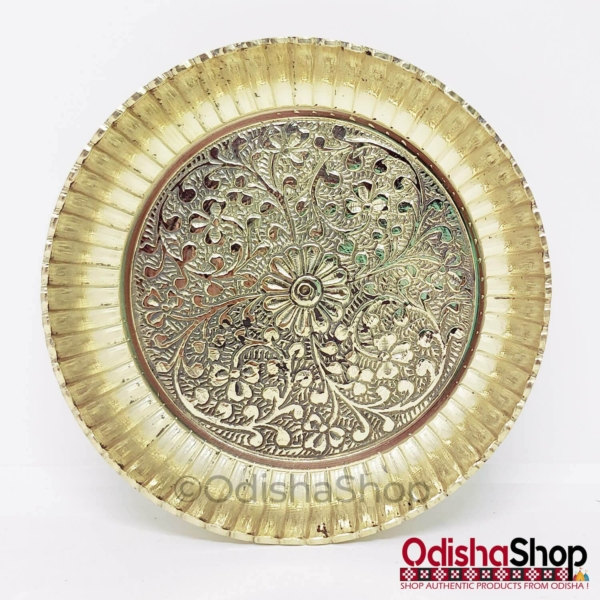 Brass Heavy Weight Plate For Puja From OdishaShop