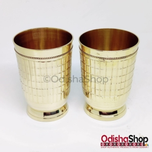 Handmade Brass Glass From Odisha Set Of 2